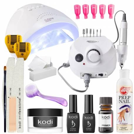 Купить Набор для наращивания ногтей Kodi Professional с UV/LED лампой Sun One 48 Вт и фрезером для маникюра Drill Pro