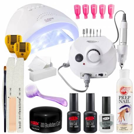 Купить Набор для наращивания ногтей PNB с UV/LED лампой Sun One 48 Вт и фрезером для маникюра Drill Pro