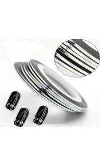 Стрічка для дизайну нігтів (срібна) 1mm