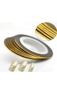 Стрічка для дизайну нігтів (золота) 1 mm