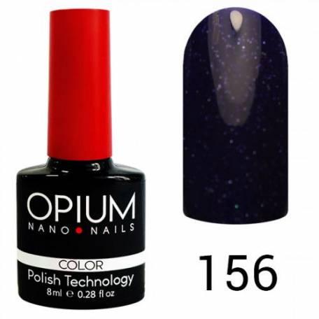 Купити Гель-лак Opium №156 8 мл (Синій з сріблястим бризками)