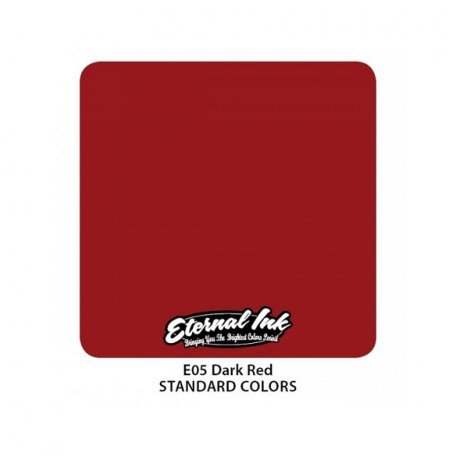 Тату краска Eternal Ink (E05) Dark Red, 15 мл