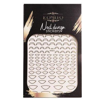 Металлизированные наклейки для ногтей Komilfo Nail Design Sticker №G003 (золото)