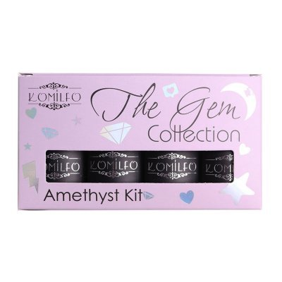 Набор Komilfo The Gem Collection Amethyst Kit (purple), №001, 002, 003, 004