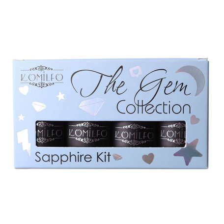 Набор Komilfo The Gem Collection Sapphire Kit (sky), №013, 014, 015, 016
