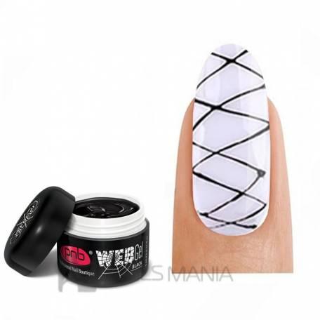 Купить Гель-паутинка черный PNB / UV/LED WebGel Black, 5 мл