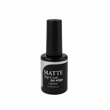 Купить Матовый топ для гель-лака Naomi Gel MATTE No Wipe Top (без липкого слоя), 12 мл