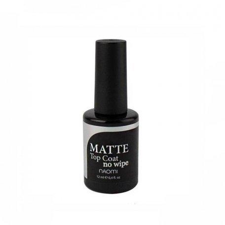 Матовый топ для гель-лака Naomi Gel MATTE No Wipe Top (без липкого слоя), 12 мл