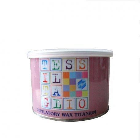 """Купить Теплый воск для депиляции в банке Tessiltaglio """"Е3125T Титаниум розовый"""" 400 мл"""