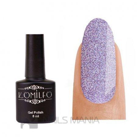 Гель-лак Komilfo №GEM004 (purple holographic), 8 мл
