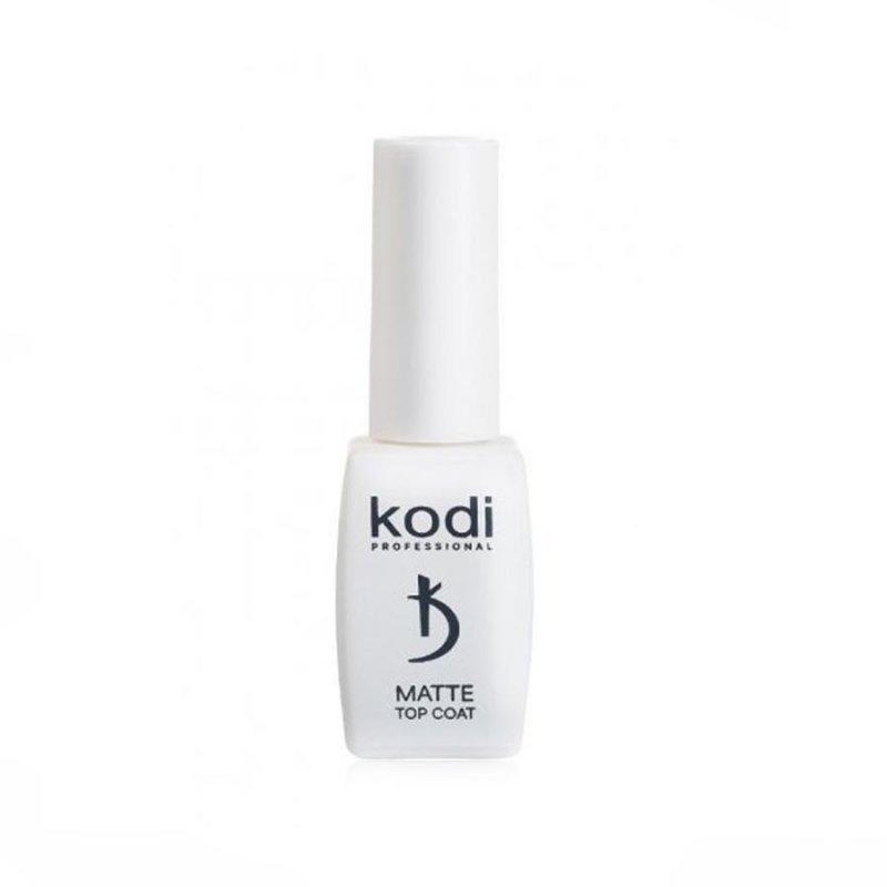 """Matte Top Coat Kodi """"Velour"""" - Матовое верхнее покрытие для гель лака, 8мл"""
