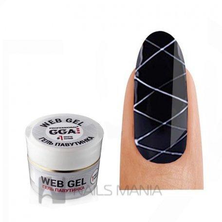 Купити Гель Павутинка GGA Professional 01, білий, 5 м