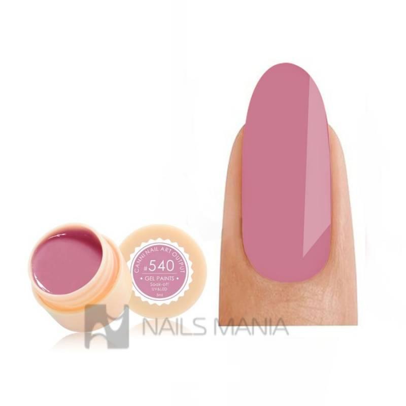 Купить Гель-краска CANNI 540 пастельная темно-розовая