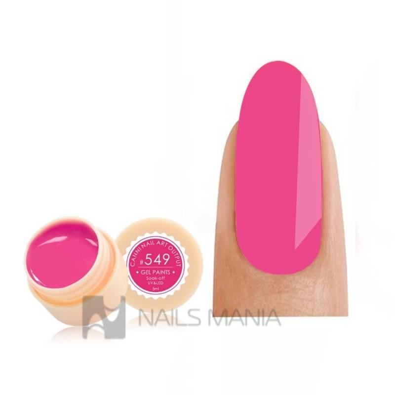 Купить Гель-краска CANNI 549 яркая насыщенно-розовая