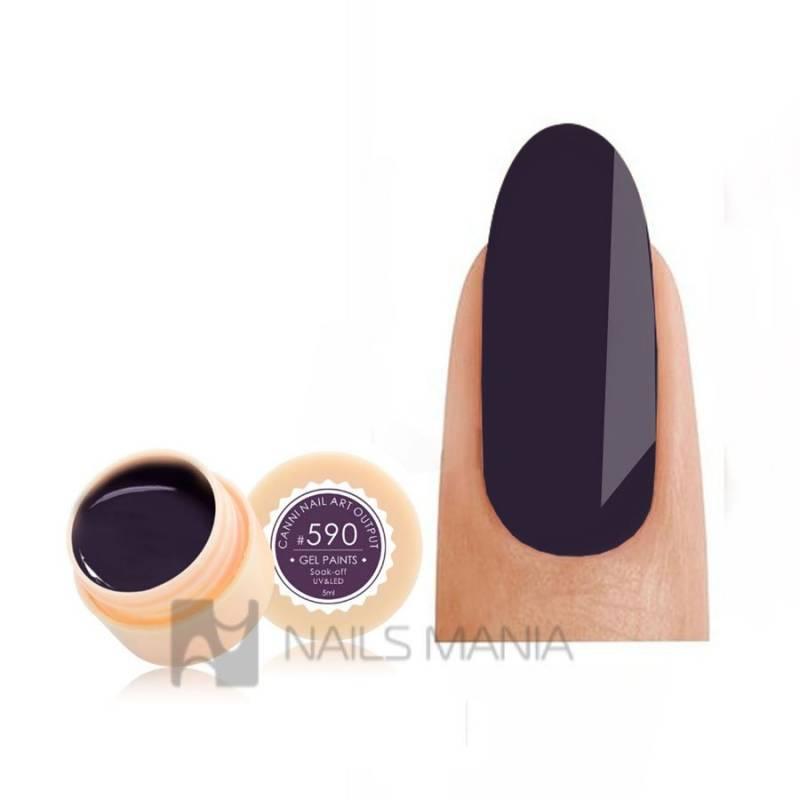 Купить Гель-краска CANNI 590 темно-коричневая