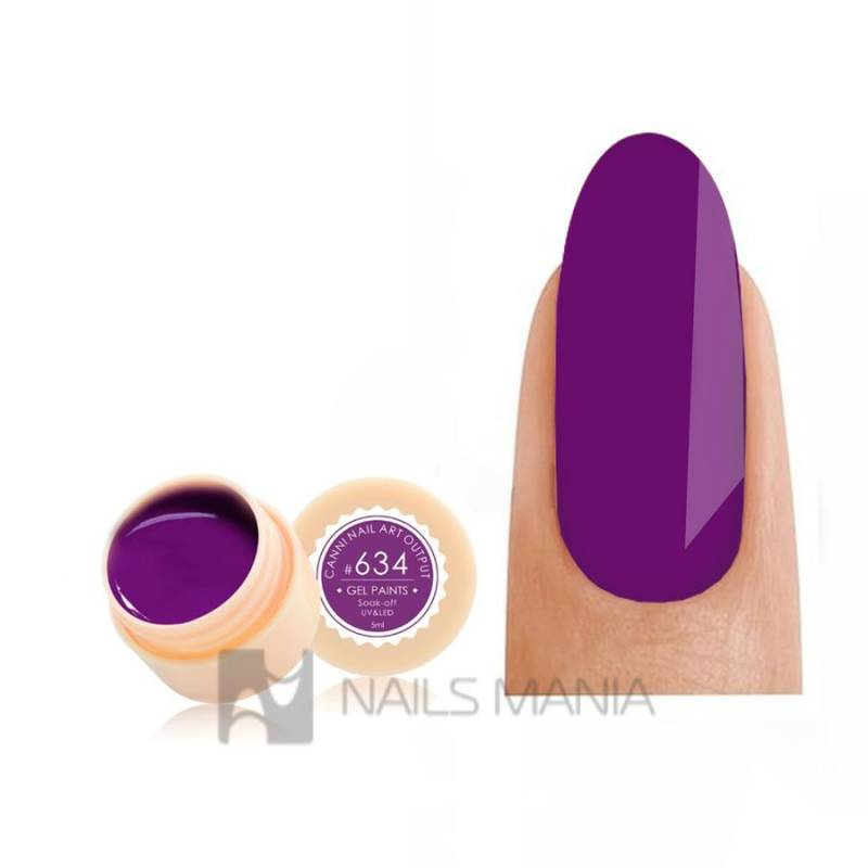 Купить Гель-краска CANNI 634 темно-пурпурная