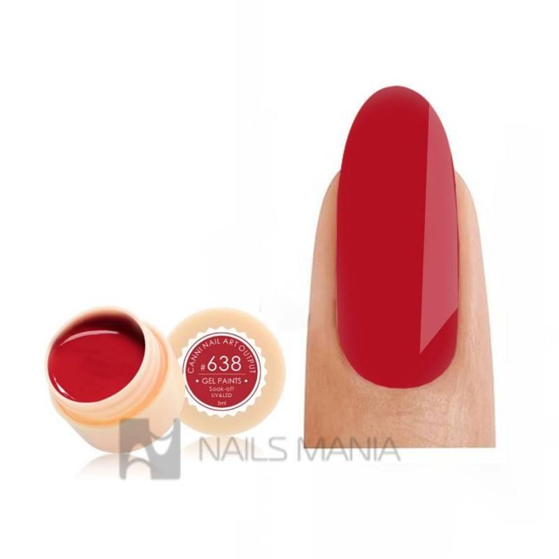 Купить Гель-краска CANNI 638 красная
