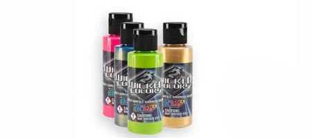 Краска для аэрографии Wicked Fluorescent & Pearlized Colors