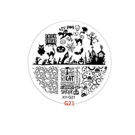 Пластины для стемпинга - Диск для стемпинга XY-G21