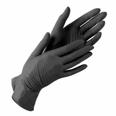 Купити Рукавички нітрилові IGAR чорні (без пудри, нестерильні S, M, L) 5 пар (10 шт)