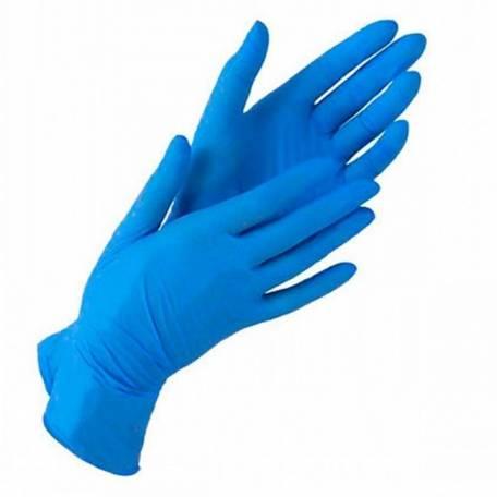 Купити Рукавички нітрилові IGAR сині (без пудри, нестерильні S, M, L) 5 пар (10 шт)
