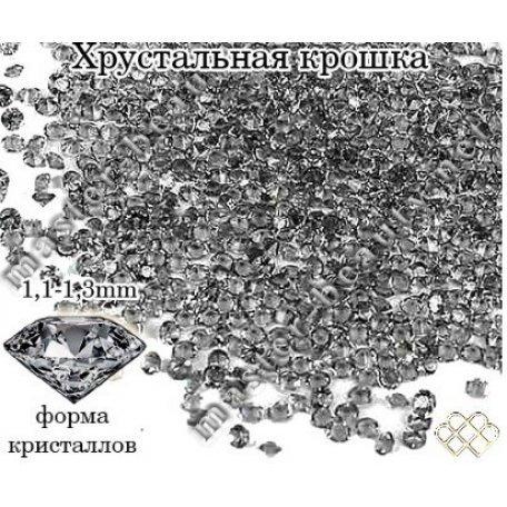 Хрустальная крошка Diamod Black - ss 2 - 100 шт. купить интернет-магазине Nailsmania.ua с бесплатной доставкой по Украине.