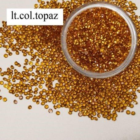 Хрустальная крошка - аналог Crystal Pixie - Хрустальная крошка Topaz Sm. - ss 2 - 100 шт.