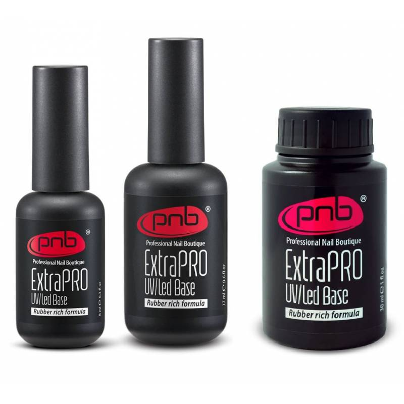 Купить База для гель-лака PNB ExtraPRO Base Rubber rich formula