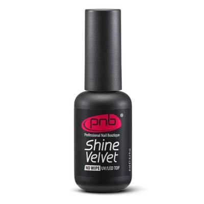 Топ матовый для гель-лака без липкого слоя PNB Shine Velvet Top No Wipe 8 мл