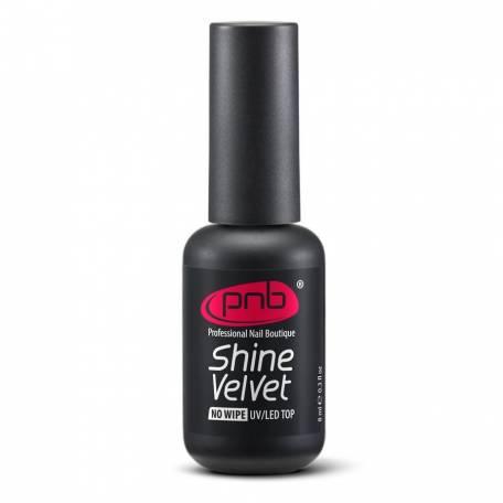 Купить Топ матовый для гель-лака без липкого слоя PNB Shine Velvet Top No Wipe 8 мл