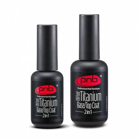 Купить Титановое базовое и верхнее покрытие PNB UV Titanium Base/Top Coat 2 in 1