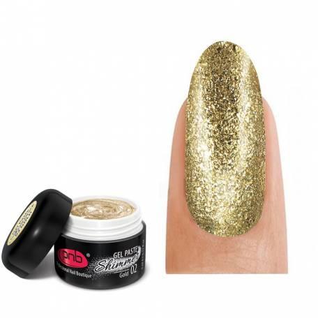 Купить Гель-паста c шиммером PNB Shimmer Gel Paste 02 Gold 5 мл
