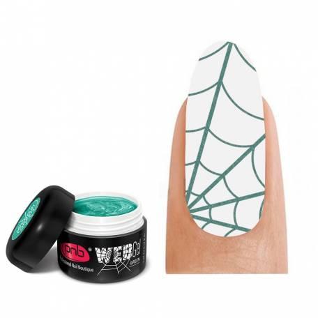 Купити Гель-павутинка зелений PNB / UV/LED WebGel Green, 5 мл