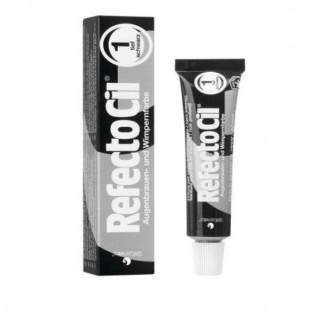 Краска для бровей и ресниц (глубокая черная) RefectoCil №1 Pure Black , 15мл купить интернет-магазине Nailsmania.ua с бесплатной доставкой по Украине.