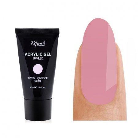 Купить Акрил-гель ReformA Cover Light Pink, розовый, 30 мл