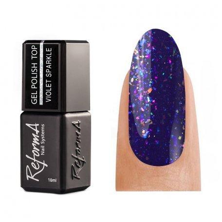Купити Топ для гель-лаку Reforma Top Violet Sparkle, 10 мл