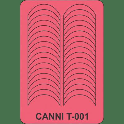 Трафареты для маникюра Canni T-001