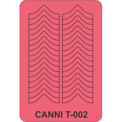 Трафареты для маникюра Canni T-002