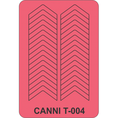 Трафареты для маникюра Canni T-004