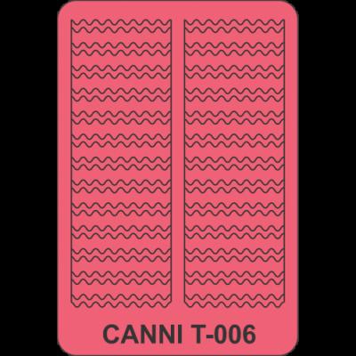 Трафареты для маникюра Canni T-006