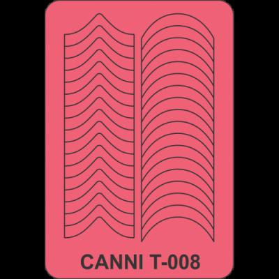 Трафареты для маникюра Canni T-008