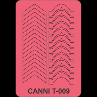 Трафареты для маникюра Canni T-009
