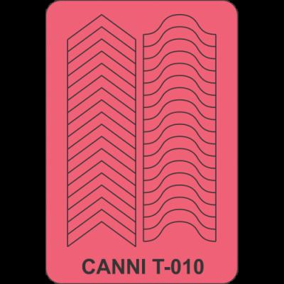 Трафареты для маникюра Canni T-010