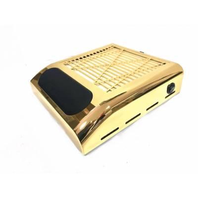 Вытяжка для маникюра Simei 858-8 с НЕРА-фильтром 80W (Золотая)