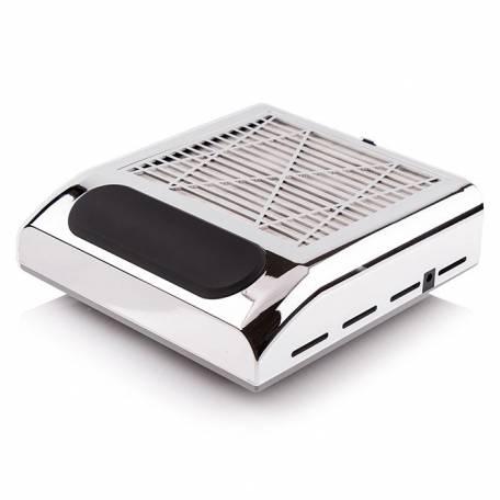 Купити Витяжка для манікюру Simei 858-8 з НЕРА-фільтром 80W (срібна)