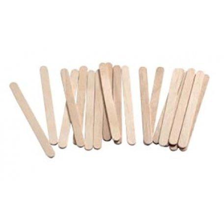 Купити Шпатель дерев'яний одноразовий для воску вузький (для обличчя), 50шт