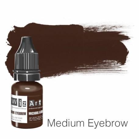 Купить Пигмент для татуажа WizArt Microblading Medium Eyebrow 10 мл