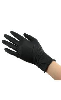 Перчатки нитриловые неопудренные ЧЕРНЫЕ размер L, 100 шт