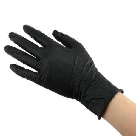Перчатки - Перчатки нитриловые неопудренные ЧЕРНЫЕ размер L, 100 шт