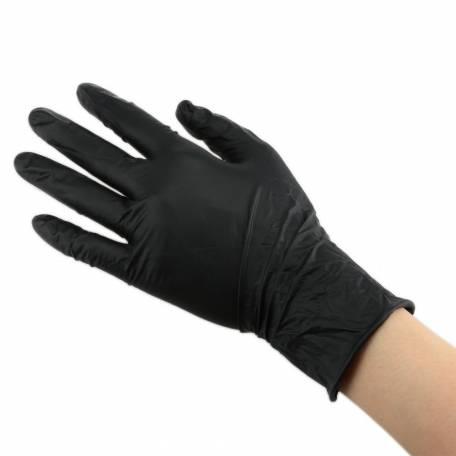 Купити Рукавички нітрилові чорні розмір M 100 шт